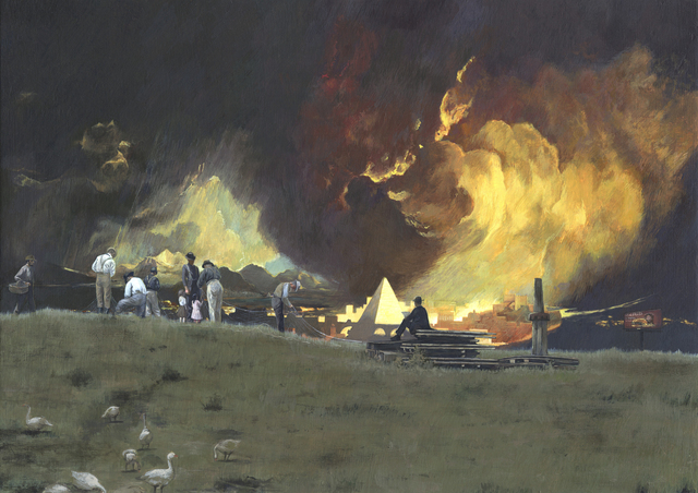 Adam Mysock, 'And Abraham looked toward Sodom and Gomorrah, and toward all the land of the plain, and beheld, and, lo, the smoke of the country went up as the smoke of a furnace', 2011, Jonathan Ferrara Gallery