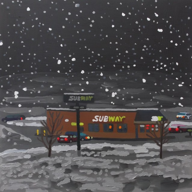 , 'Subway in a Nor'easter,' 2019, Studio 21 Fine Art