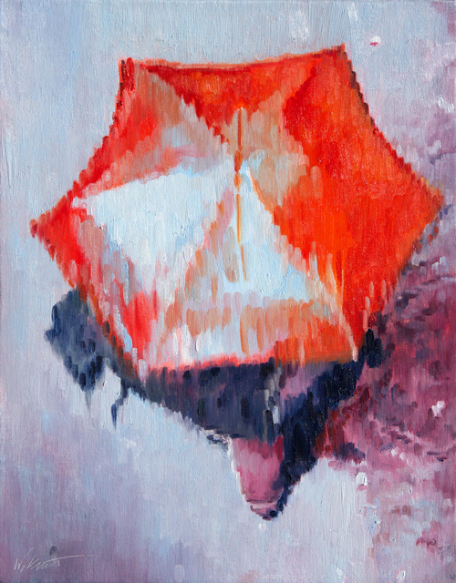 , 'Red Umbrella in Paris Rain,' 2017, ViVO Contemporary