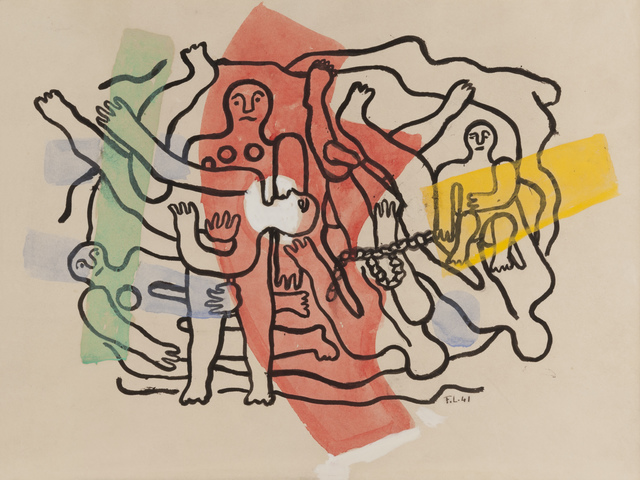 , 'Les six plongeurs, composition en largeur,' 1941, Simon Studer Art