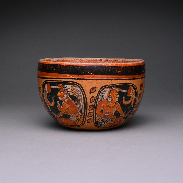 Unknown Pre-Columbian, 'Mayan Orange Terracotta Bowl', 500-1000, Barakat Gallery