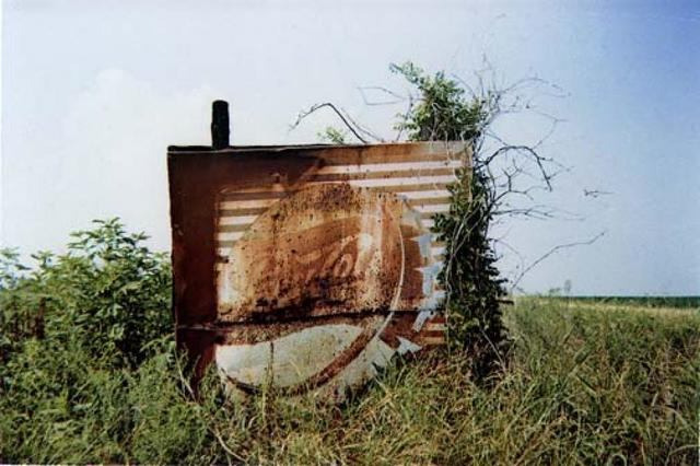 William Christenberry, 'Pepsi Cola Sign in Landscape - Near Uniontown, Alabama', 1978, Photography, Dye transfer print, Jackson Fine Art