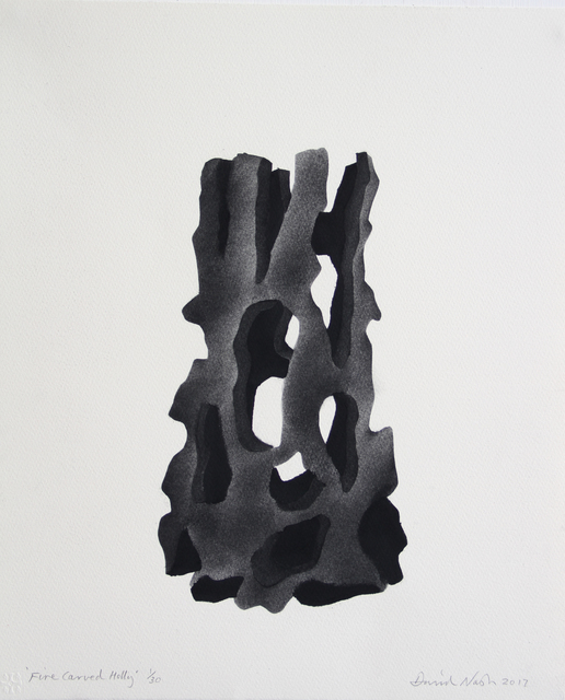 , 'Fire Carved Holly,' 2017, Candida Stevens Gallery