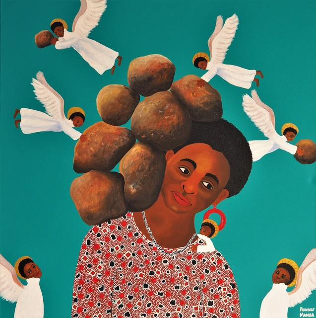 , 'The angels ease my burdens,' 2019, Yebo Art Gallery