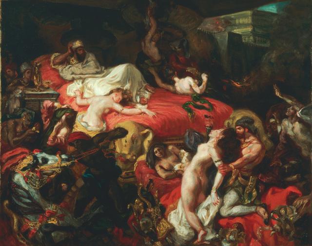 Eugène Delacroix, 'La mort de Sardanapale (Death of Sardanapalus)', 1827, Musée du Louvre