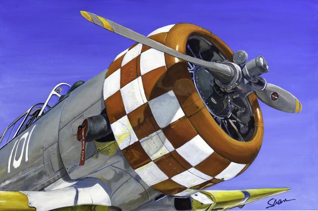 , '1944 T6 Texas Airplane,' , Sirona Fine Art