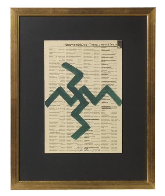 , 'Untitled (Newsprint),' 1997, The Mayor Gallery