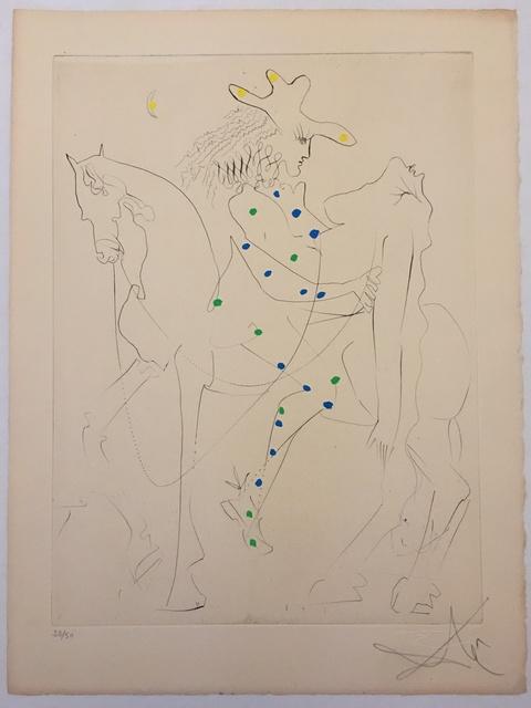 Salvador Dalí, 'Le Cheval de Picasso (Picasso's Horse)', 1968, Print, Etching with hand-coloring, Puccio Fine Art