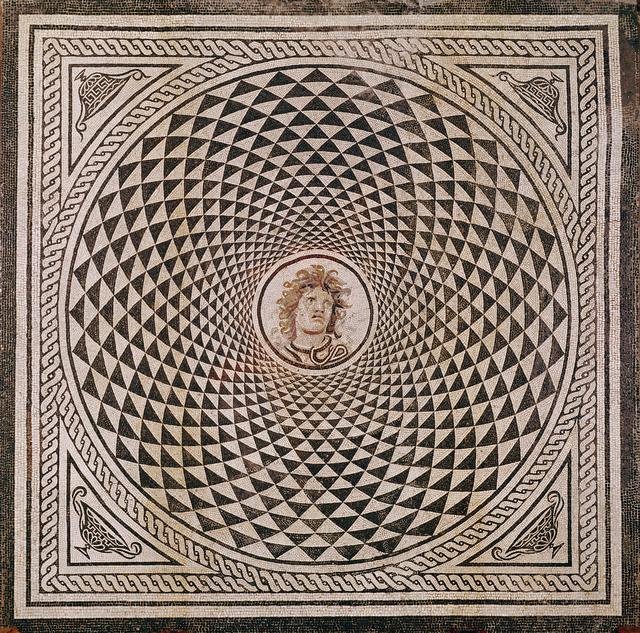 'Mosaic Floor with Head of Medusa', ca. 115 -150, J. Paul Getty Museum