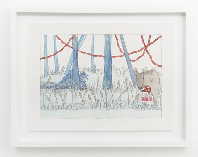 , 'Deer and Cake,' 2015, Denny Dimin Gallery