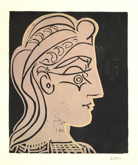 Pablo Picasso, 'Tête de Femme de profil', 1959, Galerie Jean-François Cazeau