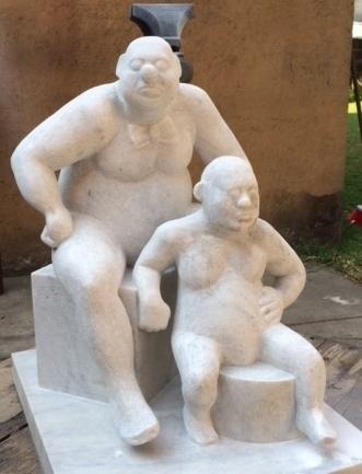, 'Clown with Midget,' 2014, Tasende Gallery