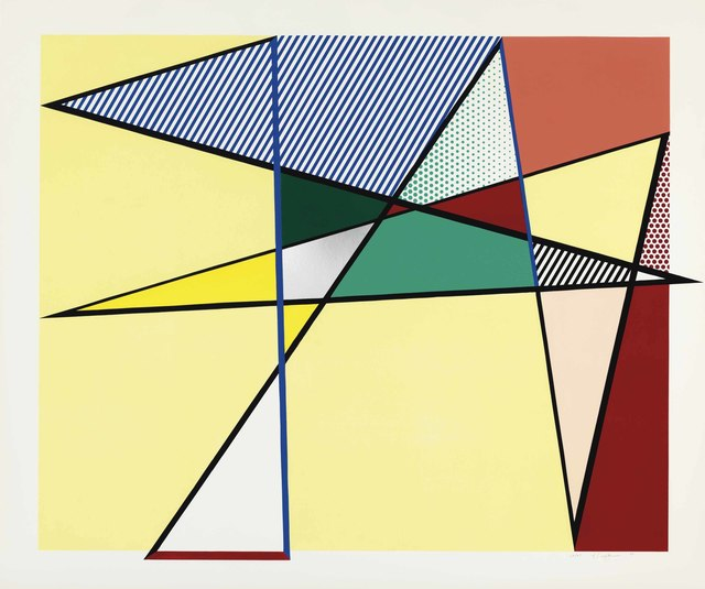 "Roy Lichtenstein, 'Imperfect 67 x 79 7/8"", from Imperfect Series', 1988, Print, Woodcut, screenprint, and collage in colors, on Supra 100 paper, Christie's"