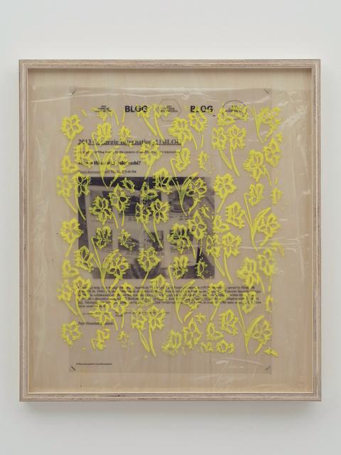 , 'Collaboration Study (Daniel's Post - Yellow),' 2019, MISAKO & ROSEN