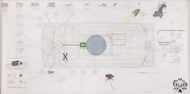 , 'Ant Farm Media Van v.08 [Time Capsule], Side Elevation,' 2008, Pioneer Works