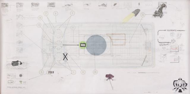 Ant Farm, 'Ant Farm Media Van v.08 [Time Capsule], Side Elevation', 2008, Pioneer Works