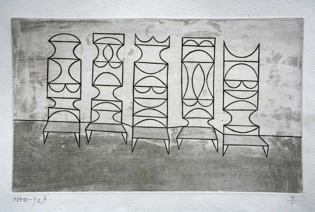 , 'Five Chairs,' 1962, Jhaveri Contemporary