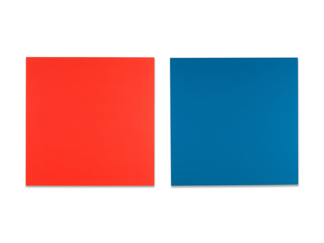 Claude Tousignant, 'Double écran chromatique en rouge et bleu (diptych)', 1988, Christopher Cutts Gallery