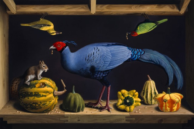 , 'Niche of Siamese Pheasant & New Jersey Gourds,' 2017, Caldwell Snyder Gallery