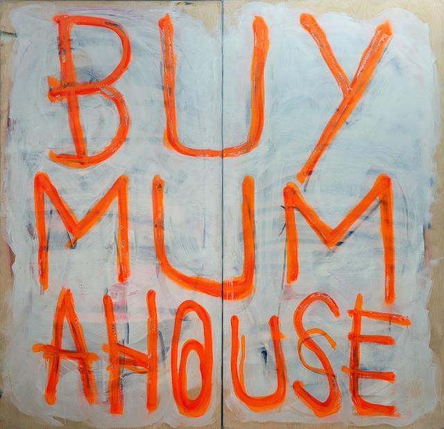, 'Mummy's Boy XXL (orange on white),' 2019, Charlie Smith London