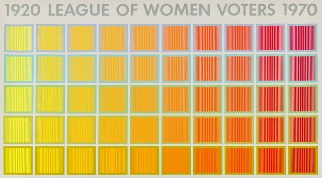 Richard Anuszkiewicz, 'League of Women Voters 1920-1970', 1969, Forum Auctions