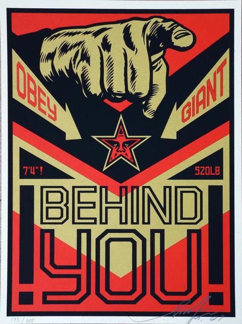 Shepard Fairey, 'Behind You', AYNAC Gallery