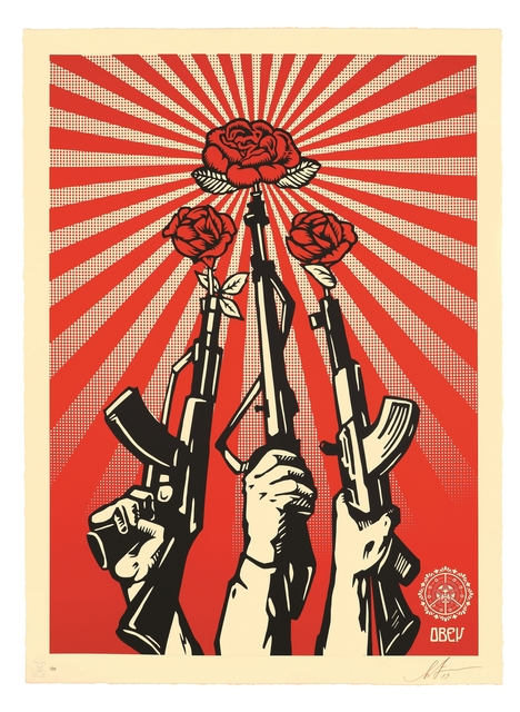 Shepard Fairey, 'Guns And Roses', 2019, Galerie Ernst Hilger