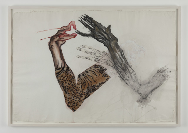 , 'in our hands... nothin(Egon and me) -2,' 2010, Galerie Nathalie Obadia