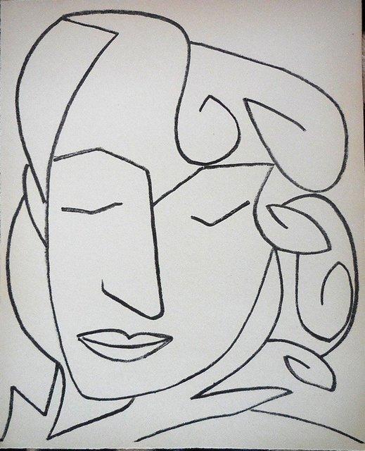 Françoise Gilot, 'Portrait Head, Woman', 1958, Lions Gallery