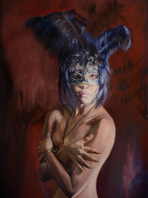 , 'The girl with mask,' 2013-2014, Art2Muse Gallery