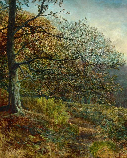 John Atkinson Grimshaw, 'Woodland near Leeds ', Dated 1869, Painting, Oil on canvas,  M.S. Rau