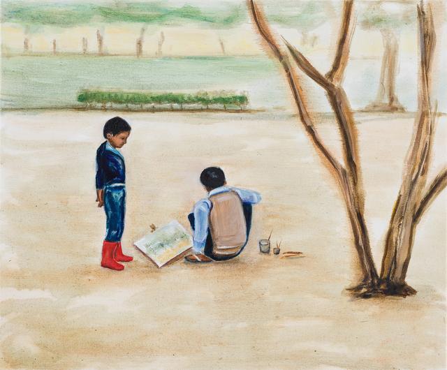 Matthew Krishanu, 'Outdoor Painting', 2018, Painting, Oil on canvas, Jhaveri Contemporary