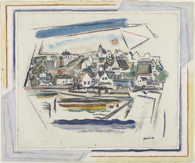John Marin (1870-1953), 'Stonington, Maine', 1923, Colby College Museum of Art