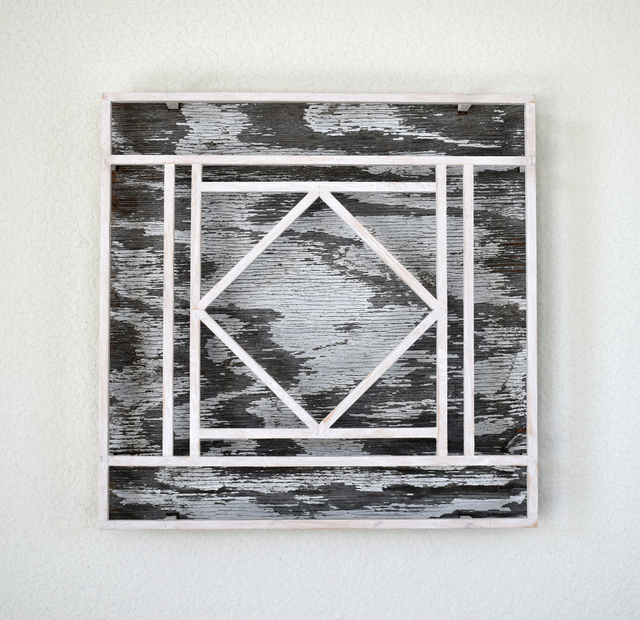 Peter Sowinski, 'Untitled (Center Diamond, White & Grey)', 2019, Open Mind Art Space