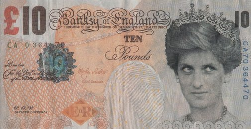 Di-Faced Tenner, 10GBP Note