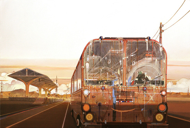 , 'Sunset Bus,' 2013, Wilber Gallery