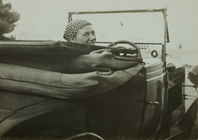 , 'Germaine Krull in her car, Monte Carlo,' 1937, Jeu de Paume