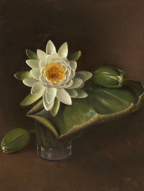 , 'Still Life with Water Lily,' 1872, Debra Force Fine Art