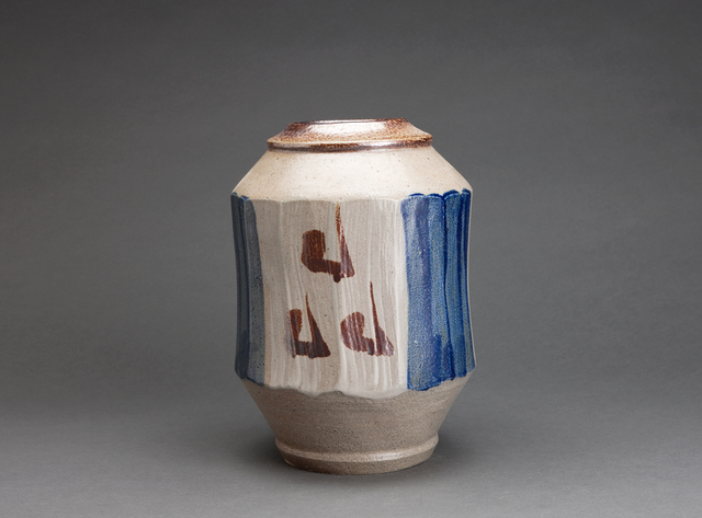 , 'Faceted vase, salt glaze with hake decoration,' , Pucker Gallery