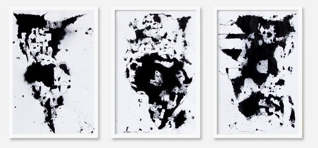 , 'World Map 1 triptych,' 2014, Make Your Mark