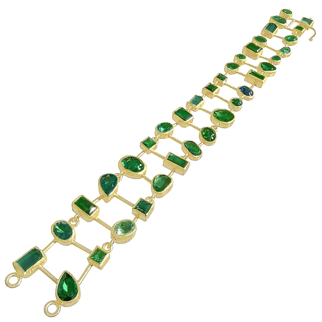 , 'One of a Kind Green Tourmaline Bracelet,' 2017, Szor Collections
