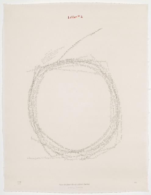 , 'Letter #2,' 2004, Travesia Cuatro