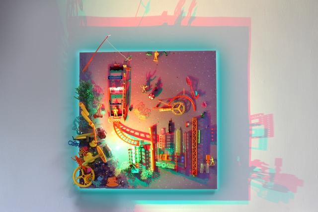 , 'Parallel Universe - Rickshaw on Tram Tracks ,' 2019, Contemporary by Angela Li