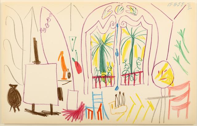 Pablo Picasso, 'Picassos Workshop (Carnet de la Californie Suite)', 1955, Chiswick Auctions