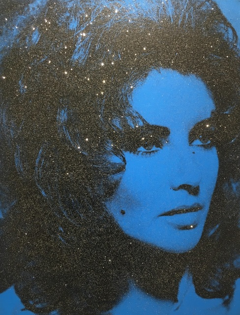 Russell Young, 'Liz Taylor - Mediterranean Blue & Black', 2014, Maddox Gallery: Collector's Choice