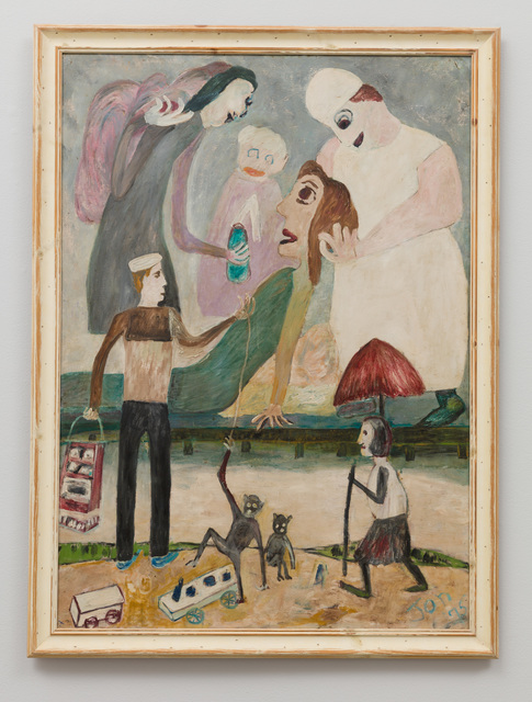, 'Untitled (Six Figures with One in Green Reclining),' 1975, The Good Luck Gallery