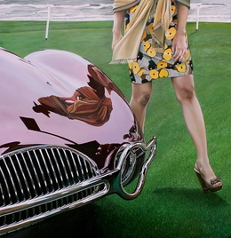 , 'Buick with Lady in Yellow Dress,' 2013, Bernarducci Gallery