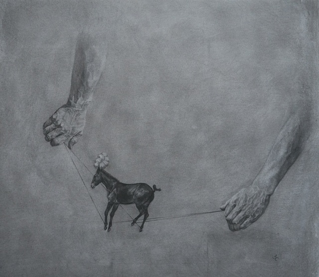 Beth Carter, 'The Conjuror's Horse', Painting, Charcoal on paper, Hugo Galerie