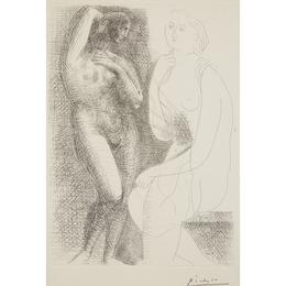 """Femme Nue Devant Une Statue From """"La Suite Vollard"""""""