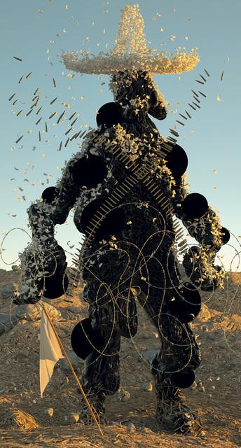 , 'Señor Tar Man (Gringo God, Embreado y Emplumado),' 2014, Postmasters Gallery